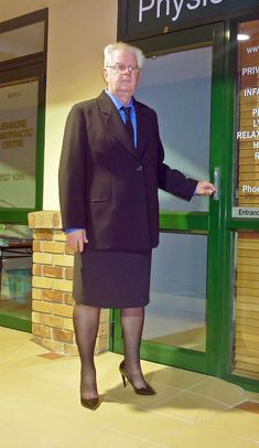 Prof. Scholl, famous pediatrician. Belives strongly that men should not be shy of dressing in skirts.