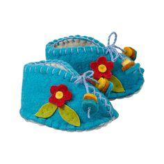 Blue Zooties with Flower - Baby Booties  - Fair Trade - #thisbluesea #fairtrade #shopfairtrade