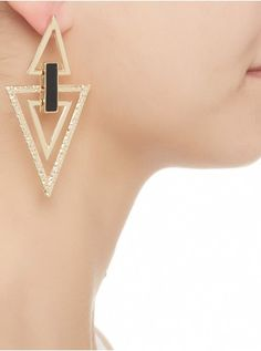 Triangle drop earrings Gold 104