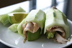 Cucumber, Turkey & Avocado Roll