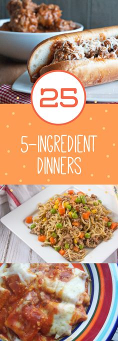30 dinner recipes that all consist of 5 ingredients or less they simple dinner recipes and meals with just 5 ingredients genius kitchen forumfinder Image collections