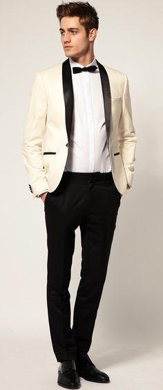 Slim Fit Tuxedo Suit Jacket by ASOS