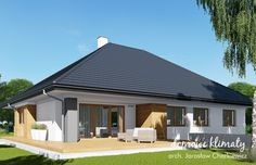 Projekt domu Neptun IV , wizualizacja 3 Modern House Plans, Sweet Home, Outdoor Decor, Home Decor, Ideas, Houses, House Construction Plan, Decoration Home, Modern Home Plans