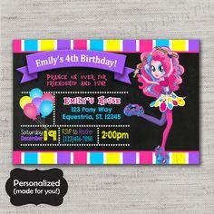 My Little Pony Birthday invite,MLP,MLP invite,JPG file,Invite,Equestria Girls ,Equestria Girls Invite,My Little Pony Invite,DPP80