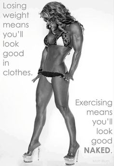 "Aim to loose body fat and build lean muscle rather than losing weight to be ""skinny"". love it."
