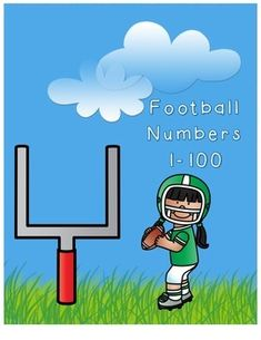 I love football! I already miss it and can't wait until next year. Here's a football  freebie!Numbers 1-100 on footballs.