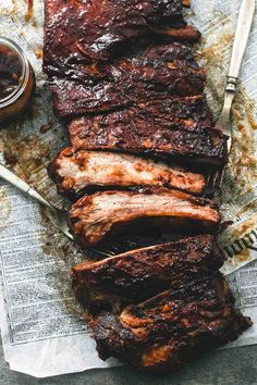 BEST Easy Slow Cooker BBQ Ribs @FoodBlogs