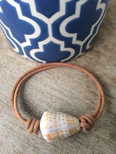 Sliding Knot Cone Shell Bracelet by FlatteryDesigns on Etsy
