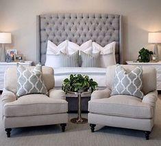 Amazing 99 White And Grey Master Bedroom Interior Design