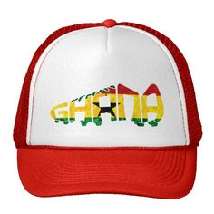 Ghana Football Soccer Calligram Trucker Hat. Cool, retro style soccer trucker hats! Custom printed. Just $17.95 each. To see more #soccer goodies, please check out my store: http://www.zazzle.com/gamefacegear*/