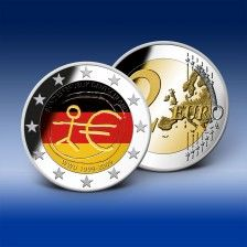 2 Euro Gedenkmünze  Deutschland  10 Jahre Euro in Farbe