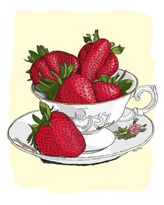 Fine Art Print Strawberry Tea