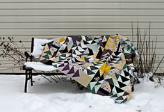 A Flying Geese Quilt Top : : - Maureen Cracknell Handmade