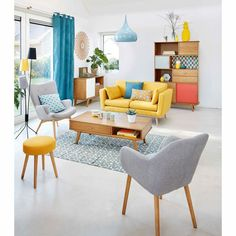 25 home decor ideas for modern living room 25 Wohnideen pro modernes Wohnzimmer 25 Wohnideen pro modernes Wohnzimmer Retro Living Rooms, Colourful Living Room, Living Room Modern, Living Room Interior, Home Living Room, Living Room Designs, Living Room Decor, Living Spaces, Small Living