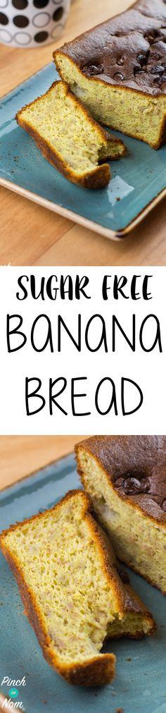 Sugar Free Banana Bread | Pinchofnom.com