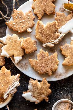 Chai Spiced Maple Sugar Cookies with Browned Butter Frosting. - Half Baked Harvest