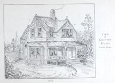 Country house plan from 1884 Leffel's House Plan book.