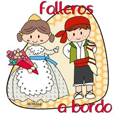 Falleros.. Tatoos, Applique, Scrapbook, Comics, Art, Tela, Scrappy Quilts, Crafts For Kids, Painted Flower Pots