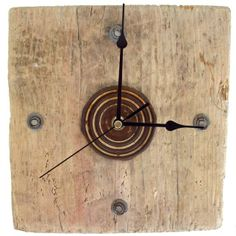 Clock - Driftwood & Metal Wall Clock