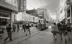 Riding the Tram, İstiklal Avenue