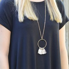 Gold Threaded Tassel Necklace – StitchBee