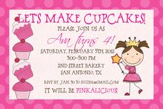 Pinkalicious Birthday Invitation. $12.00, via Etsy.