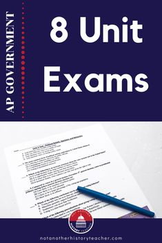 This is an amazing collection of 8 unit tests for AP US Government that will save you HOURS of time. You can also adapt it for regular government and politics class. There are 30 multiple choice questions and one free-response question for each of the 8 exams. #apgov #apgovernmentandpolitics #hsgovchat #notanotherhistoryteacher