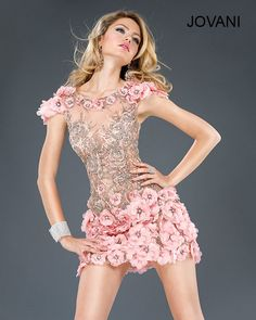 Jovani 7223 Sheath Short Dress