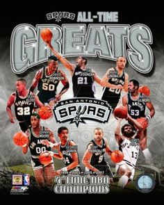 San Antonio Spurs All-Time Greats Composite Photo at AllPosters.com