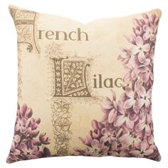 French Lilacs Pillow - Shabby Garden Party on Joss & Main