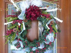 Elegant Christmas Wreath  Christmas Decor  by JulieButlerCreations