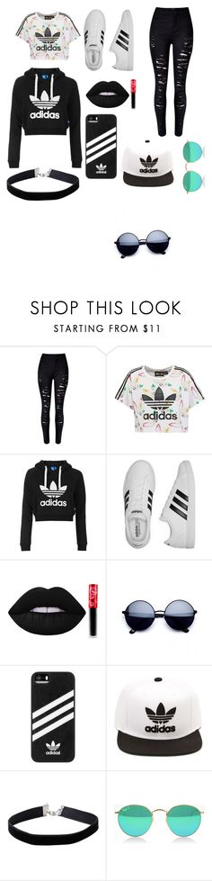 """adidas"" by cloevessuri on Polyvore featuring WithChic, adidas Originals, Topshop, adidas, Lime Crime and Miss Selfridge"