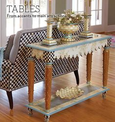 MacKenzie-Childs - Handcrafted Tables Large or Small at MacKenzie-Childs