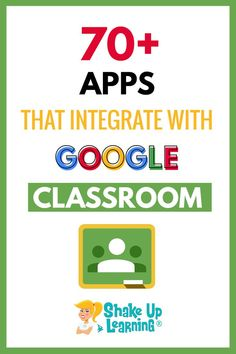 Check out this list of over 70 Awesome Apps that Integrate with Google Classroom! Did you know that Google Classroom plays well with others? Yep! Google is known for making their applications open to working with third-party applications, and Google Classroom is no exception.