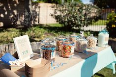 "Cereal bar - could eat there and then make their own ""box"" to take Home. Personal printables would be cute!"