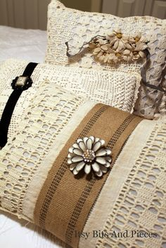 Itsy Bits and Pieces Website: re-purposing old crochet or lace items