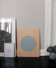 circle on plywood // potential diy // INATTENDU