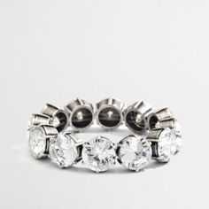 J.Crew Factory stretch large crystal bracelet