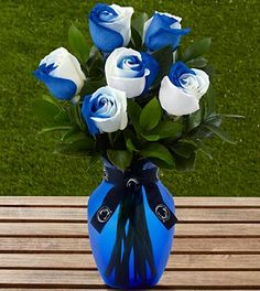 The FTD® Penn State® Nittany Lions® Rose Bouquet - 6 Stems - VASE INCLUDED