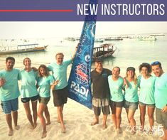 New PADI instructors at Oceans 5 Gili Air