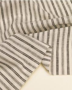 linen, viscose fabric with a monochrome stripe. This lightweight, natural fabric is perfect for adding some neutral classics to your capsule summer wardrobe. Viscose Fabric, Linen Fabric, Co Ord, Summer Shirts, Summer Wardrobe, Monochrome, Neutral, Women, Monochrome Painting