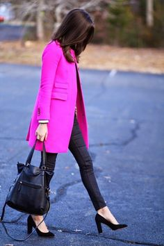 9 sweet winter outfits with a pink coat that you can totally copy 2 - 9 sweet winter outfits with a pink coat that you can totally copy