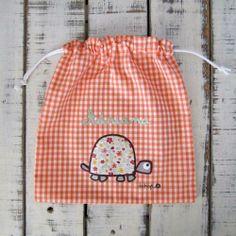 Bolsa para la ropa tortuga con tu nombre - Marketplace social de tiendas para niños de 0 a 14 años