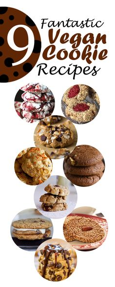 Baked and tested! 9 of the best Vegan Cookie Recipes... ever! #vegan #cookies #baking