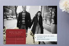 Adorable Library Save the Dates