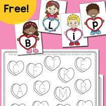 Valentine's Day Letter Tracing