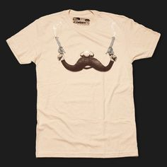 Handlebar Hold Up T-Shirt - Fuzzy Ink | Mustache Shirts | Moustache Cookie Cutters