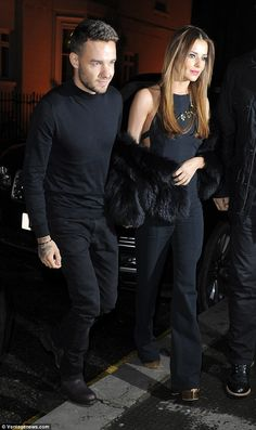 They match! Cheryl Fernandez-Versini and her new boyfriend Liam Payne looked very much in love as they headed out on a romantic dinner date in London on Wednesday evening