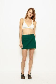 Vanishing Elephant Mini Skirt Green - Eclectic Ladyland