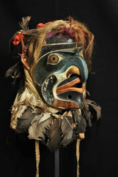 No description with photo but it was featured in an article about First Nations people in Alert Bay.  This mask is amazing.